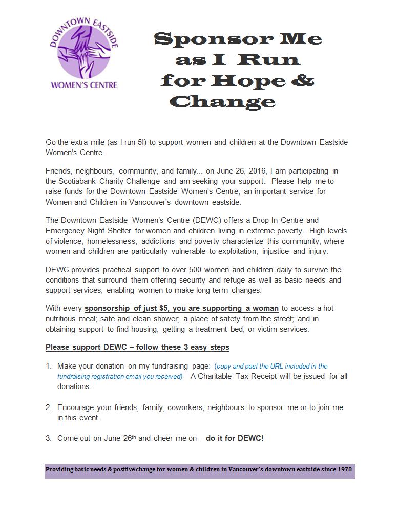 Email letter to solicit sponsors downtown eastside womens centre invitation to sponsor image altavistaventures Images